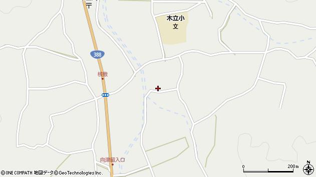 大分県佐伯市木立中野河内区小平周辺の地図