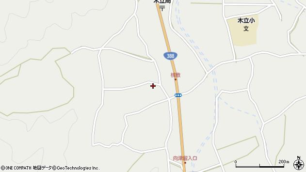 大分県佐伯市木立1554周辺の地図