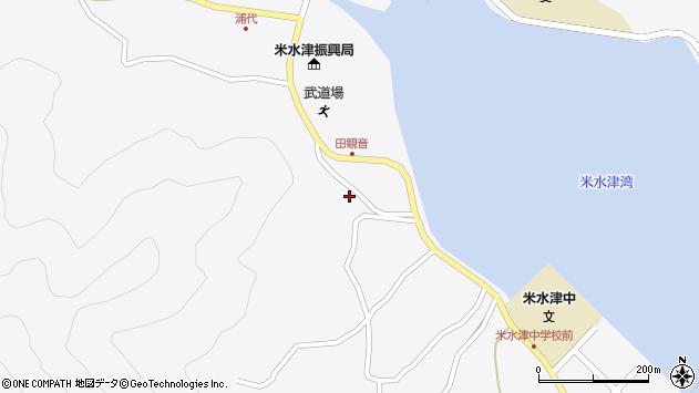 大分県佐伯市米水津大字浦代浦1271周辺の地図