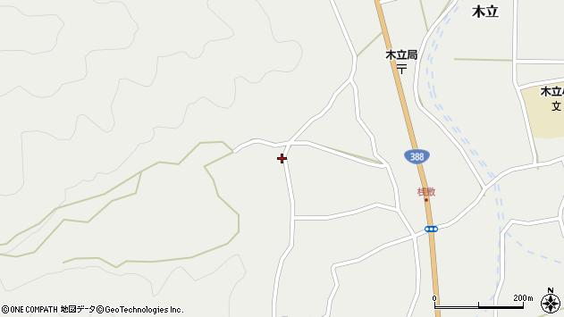 大分県佐伯市木立1374周辺の地図