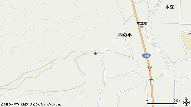 大分県佐伯市木立1328周辺の地図