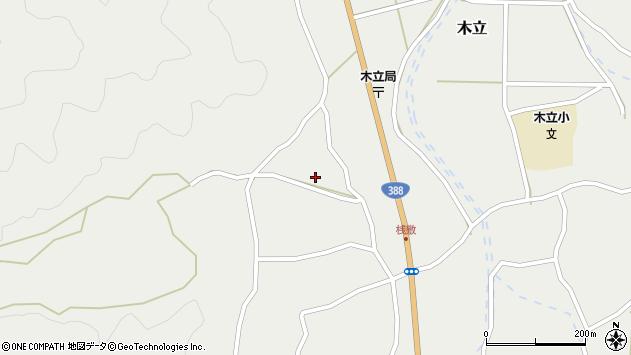 大分県佐伯市木立1470周辺の地図