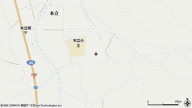 大分県佐伯市木立3617周辺の地図