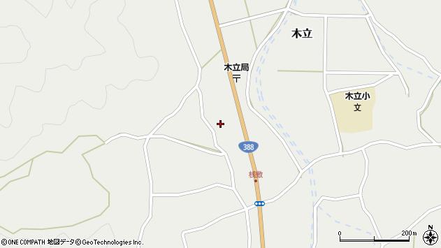 大分県佐伯市木立1427周辺の地図
