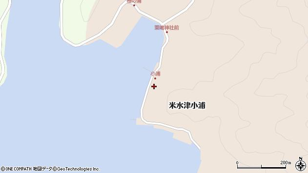 大分県佐伯市米水津大字小浦517周辺の地図