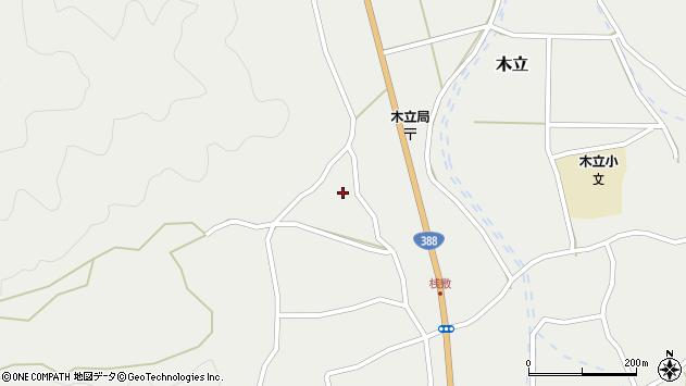 大分県佐伯市木立1390周辺の地図