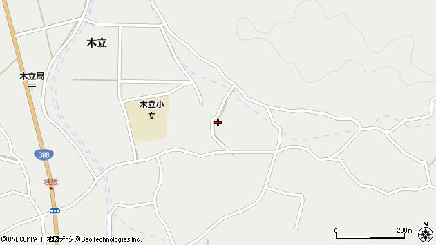 大分県佐伯市木立3637周辺の地図