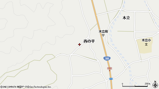 大分県佐伯市木立1054周辺の地図