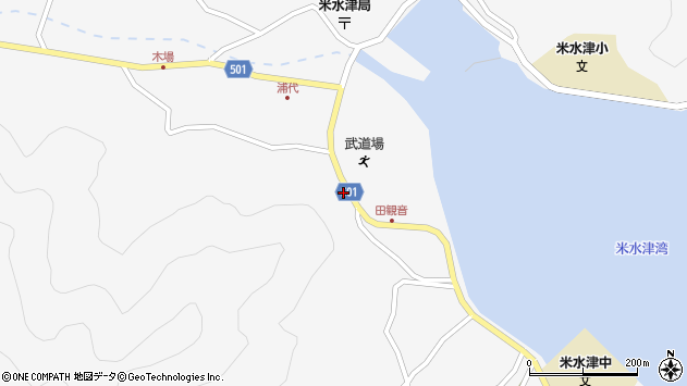 大分県佐伯市米水津大字浦代浦1258周辺の地図