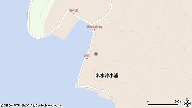 大分県佐伯市米水津大字小浦460周辺の地図