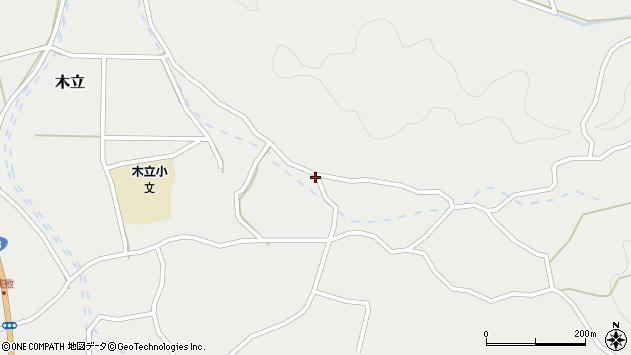 大分県佐伯市木立4373周辺の地図