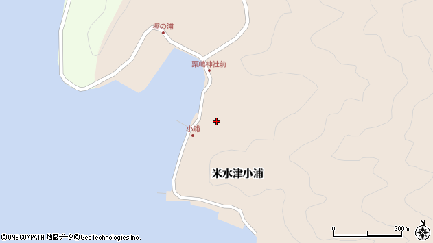 大分県佐伯市米水津大字小浦485周辺の地図