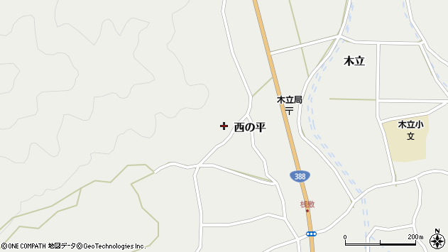 大分県佐伯市木立1052周辺の地図