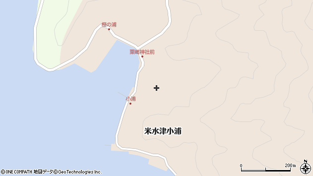大分県佐伯市米水津大字小浦438周辺の地図