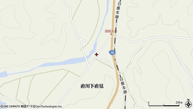 大分県佐伯市直川大字下直見4356周辺の地図