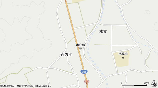 大分県佐伯市木立1399周辺の地図