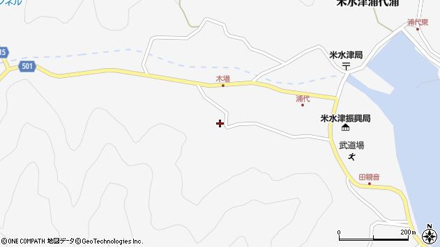大分県佐伯市米水津大字浦代浦1136周辺の地図