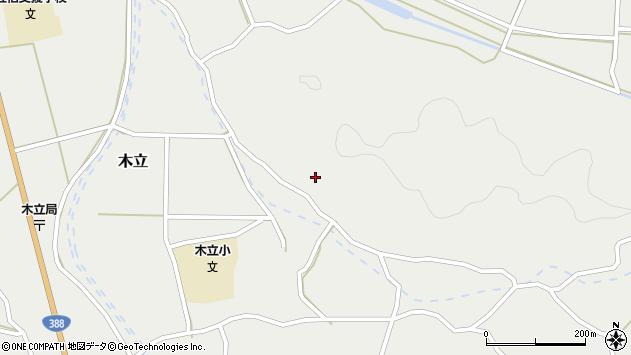 大分県佐伯市木立4344周辺の地図