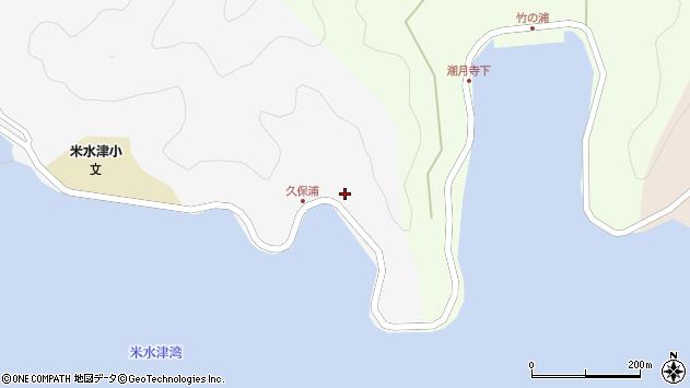 大分県佐伯市米水津大字浦代浦21周辺の地図