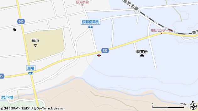 大分県竹田市荻町恵良原747周辺の地図