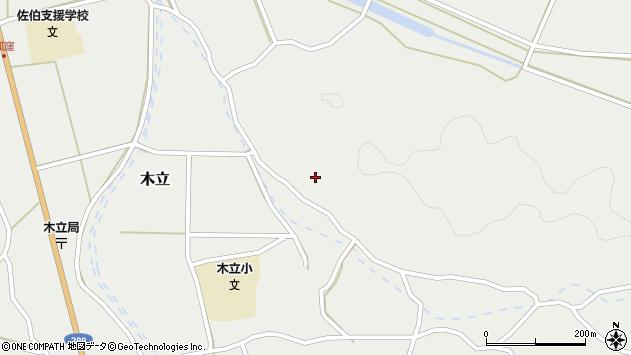 大分県佐伯市木立4324周辺の地図