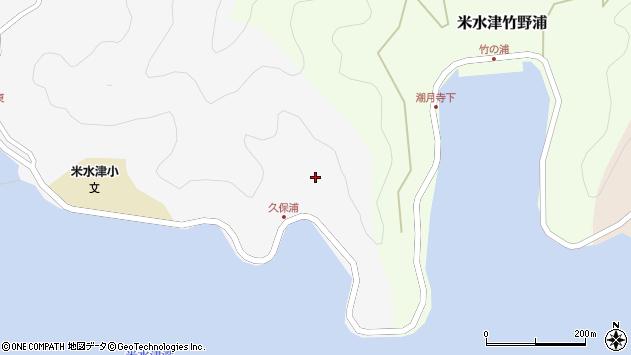 大分県佐伯市米水津大字浦代浦29周辺の地図