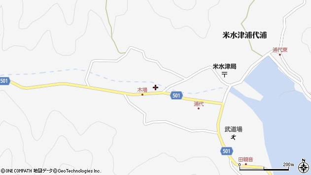 大分県佐伯市米水津大字浦代浦1099周辺の地図