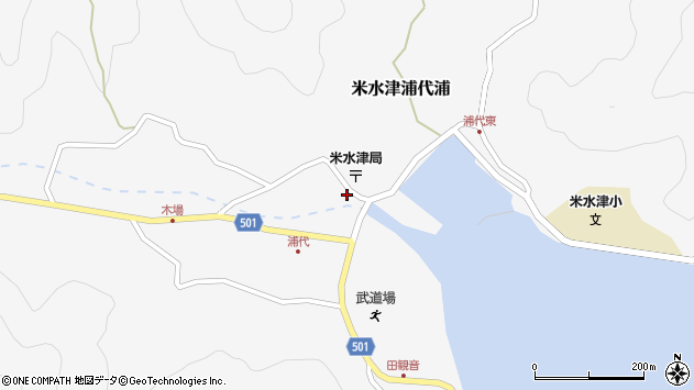 大分県佐伯市米水津大字浦代浦1236周辺の地図