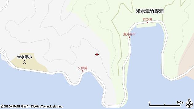 大分県佐伯市米水津大字浦代浦久保浦周辺の地図