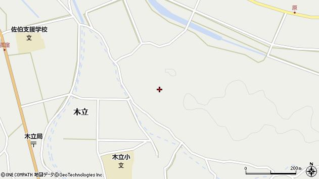 大分県佐伯市木立4314周辺の地図