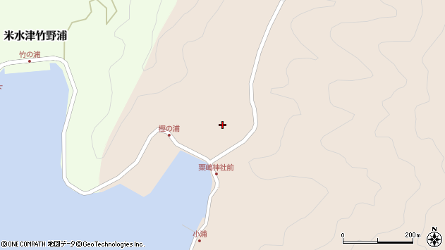 大分県佐伯市米水津大字小浦83周辺の地図