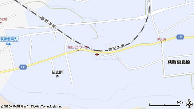 大分県竹田市荻町恵良原766周辺の地図