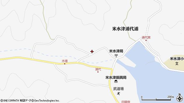 大分県佐伯市米水津大字浦代浦767周辺の地図