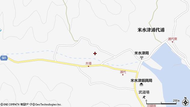 大分県佐伯市米水津大字浦代浦860周辺の地図