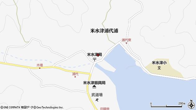 大分県佐伯市米水津大字浦代浦周辺の地図