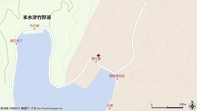 大分県佐伯市米水津大字小浦37周辺の地図