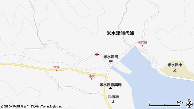 大分県佐伯市米水津大字浦代浦737周辺の地図