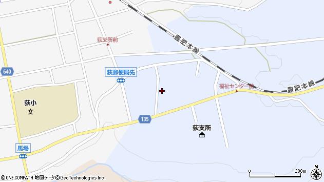 大分県竹田市荻町恵良原東区周辺の地図