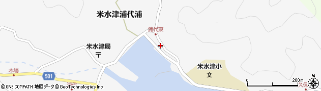 大分県佐伯市米水津大字浦代浦168周辺の地図