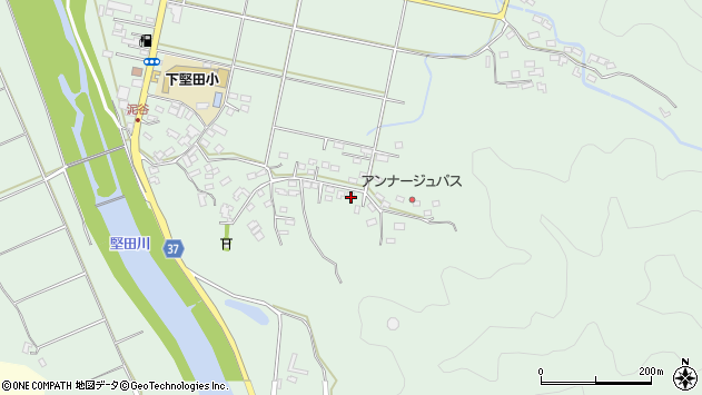 大分県佐伯市堅田5511周辺の地図
