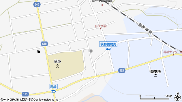大分県竹田市荻町馬場437周辺の地図