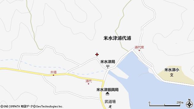 大分県佐伯市米水津大字浦代浦722周辺の地図