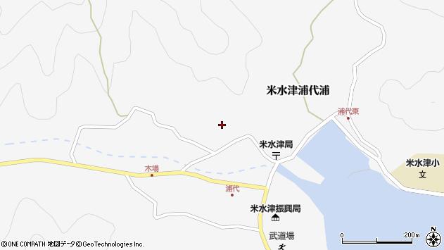 大分県佐伯市米水津大字浦代浦775周辺の地図