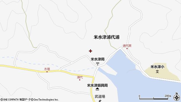 大分県佐伯市米水津大字浦代浦718周辺の地図