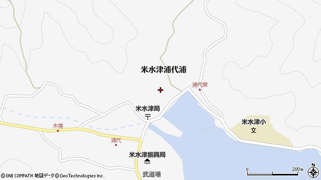 大分県佐伯市米水津大字浦代浦632周辺の地図