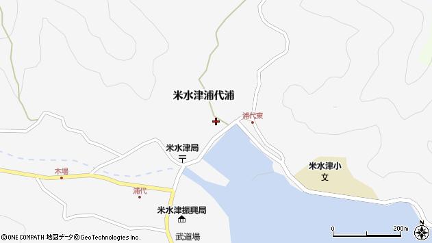 大分県佐伯市米水津大字浦代浦599周辺の地図