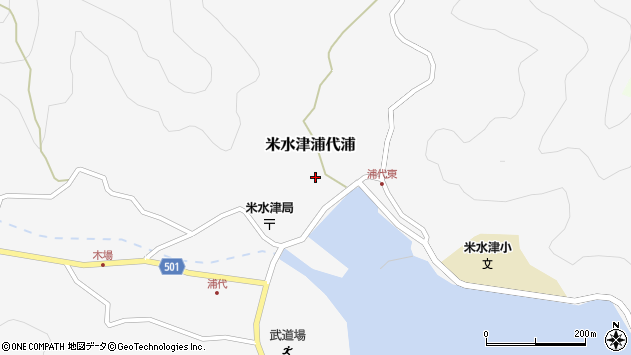 大分県佐伯市米水津大字浦代浦600周辺の地図