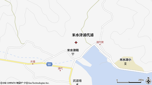 大分県佐伯市米水津大字浦代浦650周辺の地図