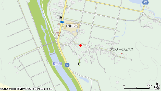 大分県佐伯市堅田5463周辺の地図