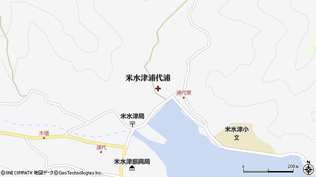 大分県佐伯市米水津大字浦代浦580周辺の地図